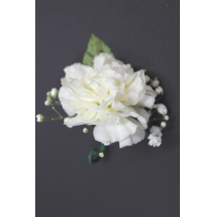 DiBella Flowers & Gifts Las Vegas - Single Carnation Boutonniere  * Please choose color! Will come as White if no color is selected! **Ribbon loop can be added