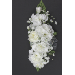 DiBella Flowers & Gifts Las Vegas - Mini Carnation Corsage * Choose color! Will come as White if no other color is selected ** Ribbon Colors, Accessories and Wristlet choices available in Categories Section **8 If no additional Ribbon or Wristlet is chosen, Corsage will come as pictured with White Ribbon and as a Pin On - No Wristlet