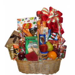 DiBella Flowers & Gifts Las Vegas - Deluxe Fruit and Goodie An amazing selection of seasonal fruits, goodies and gourmet items including Jelly Belly line, Cheese and Crackers, Chocolates and more. * items may vary slightly from picture