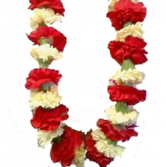 """DiBella Flowers & Gifts Las Vegas - Graduation Lei Choose you school colors and don this beautiful lei of flowers on your big day. * Be sure and add your requested colors (2) in the """"Special Instructions"""" section at check out. ** Will come as pictured, in red and white, if no color is chosen *** Bows can be added to match school colors. Please call us at 702-384-1121 with any questions."""