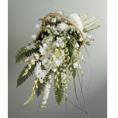 DiBella Flowers & Gifts Las Vegas - Graceful White Standing Spray CTT 8-21