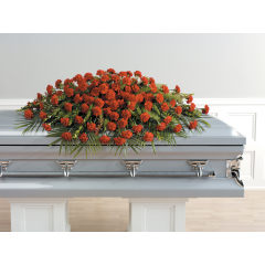 DiBella Flowers & Gifts Las Vegas - Full Carnation Casket Spray CTT 25-21