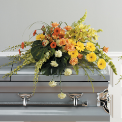 DiBella Flowers & Gifts Las Vegas - Shades of Sunset Casket Spray CTT 35-11