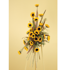 DiBella Flowers & Gifts Las Vegas - Summer Sunflowers Standing Spray CTT38-11 *** Seasonal Flowers *** May have to sub