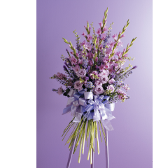 DiBella Flowers & Gifts Las Vegas - Purple Garden Standing Spray CTT 54-11
