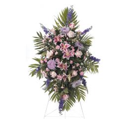 DiBella Flowers & Gifts Las Vegas - Lavenders and Pinks Standing Spray CTT 60-11