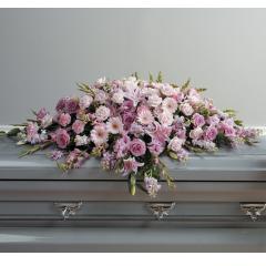 DiBella Flowers & Gifts Las Vegas - Full Lavenders and Pinks Casket Spray CTT 62-11