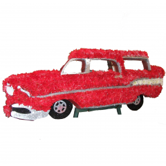 DiBella Flowers & Gifts Las Vegas - Custom Car Standing Spray- Bring us a picture of that special car or item and we can recreate it with flowers. Prices will vary per piece.