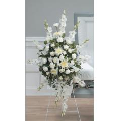 DiBella Flowers & Gifts Las Vegas - White Tribute Gladiolus Spray CTT6-11