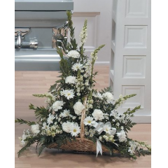 DiBella Flowers & Gifts Las Vegas - White Tribute Fireside Basket CTT11-13