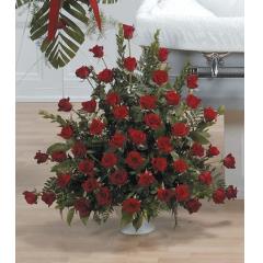 DiBella Flowers & Gifts Las Vegas - Red Rose Urn Arrangement CTT 18-13