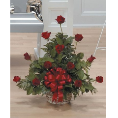 DiBella Flowers & Gifts Las Vegas - Red Rose Basket Arrangement CTT19-14