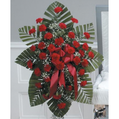 DiBella Flowers & Gifts Las Vegas - Red Carnation Standing Spray CTT26-11