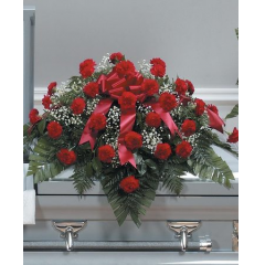 DiBella Flowers & Gifts Las Vegas - Red Carnation Casket Spray CTT27-11
