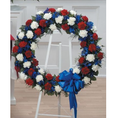 DiBella Flowers & Gifts Las Vegas - Red, White and Blue Wreath CTT29-12