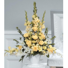 DiBella Flowers & Gifts Las Vegas - Yellow Mache Arrangement CTT32-11
