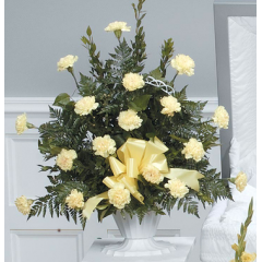 DiBella Flowers & Gifts Las Vegas - Yellow Carnation Mache CTT36-11