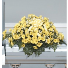 DiBella Flowers & Gifts Las Vegas - Yellow Casket Spray CTT41-11