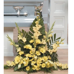 DiBella Flowers & Gifts Las Vegas - Yellow Arrangement CTT41-14 Gladiolus and Daisies