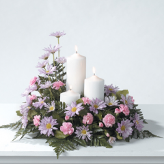 DiBella Flowers & Gifts Las Vegas - Pink and Lavender Candle Arrangement CTT61-11