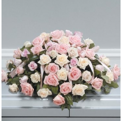 DiBella Flowers & Gifts Las Vegas - Shades of Pink Casket Piece CTT 70-11 Shades of Light pink and white roses.