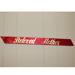 "DiBella Flowers & Gifts Las Vegas - Choose your ""Custom Funeral Ribbon"" Color and Sentiment. Ribbons can include no more than 20 characters.  Additional ribbons can be purchased but a maximum of 3 is suggested per piece.  All script is in gold tone lettering."
