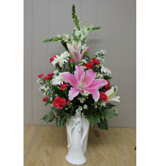 DiBella Flowers & Gifts Las Vegas - Heavenly Blooms A delicate assortment of soft blooms in a keepsake container.