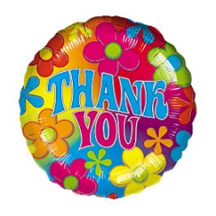 DiBella Flowers & Gifts Las Vegas - Thank You - Flowers Mylar 17 inch
