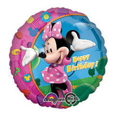 Happy Birthday Minnie Mouse Mylar 17 inch