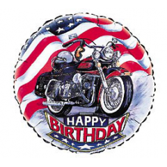 DiBella Flowers & Gifts Las Vegas - Happy Birthday Motorcycle Mylar