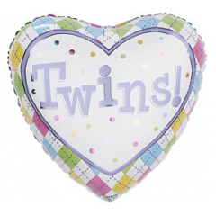 DiBella Flowers & Gifts Las Vegas - Twins Mylar 17 inch