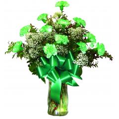 DiBella Flowers & Gifts Las Vegas - St. Patrick's Day Carnations One dozen green carnations to celebrate Saint Patrick!