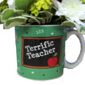 Terrific Teacher Mug Arrangement