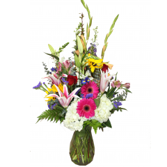 DiBella Flowers & Gifts Las Vegas - Send this bouquet full of lush blooms to show your love or appreciation. Stargazer lilies, Hydrangea, Gerbera Daisies and more leave a lasting impression.