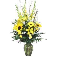 DiBella Flowers & Gifts Las Vegas - Brighten Your Day Bouquet! Send this full mix of bright yellow blooms to brighten up someones day!