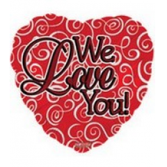 DiBella Flowers & Gifts Las Vegas - We Love You Mylar