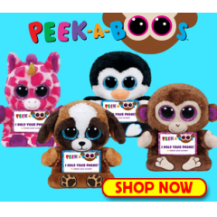 Ty Peek-A-Boo - Includes one Peek-A-Boo! Choose your style or we will pick for you. Official Ty product with the authentic Ty heart-shaped tag Part of the Peek-a-boos Plush Phone Holder Collection allows you to use your Smartphone hand-free Handy screen cleaner bottom For Videos, Games, Facetime, Text, Instagram, Facebook Posts