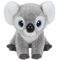 Kookoo the Koala Grey Medium Beanie Boo I live outback, way down under, I have no fear except for thunder!