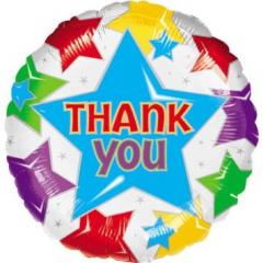 "Thank You Stars Balloon 17"" foil Mylar balloon"