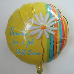 "DiBella Flowers & Gifts Las Vegas - Thank You For  A Job Well Done Balloon 17"" foil Mylar balloon"