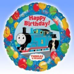 "Thomas the Train Happy Birthday Balloon 17"" foil Mylar balloon"