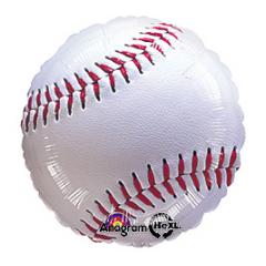 """Baseball Mylar 17"""" foil Mylar balloon"""
