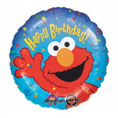 "DiBella Flowers & Gifts Las Vegas - Elmo Happy Birthday Balloon 17"" foil Mylar balloon"