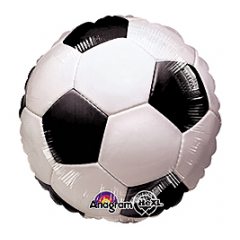 "DiBella Flowers & Gifts Las Vegas - Soccer Ball Balloon 17"" foil Mylar balloon"