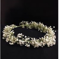 DiBella Flowers & Gifts Las Vegas - Babies Breath Headpiece Please send measurements