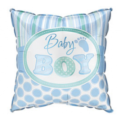 "DiBella Flowers & Gifts Las Vegas - Baby Boy Square Footprint 17""PKG BABY BOY"