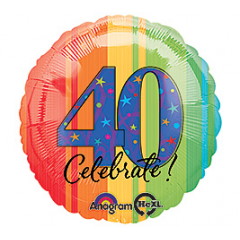 DiBella Flowers & Gifts Las Vegas - Celebrate 40 Mylar