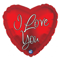 DiBella Flowers & Gifts Las Vegas - I Love You White Script Mylar