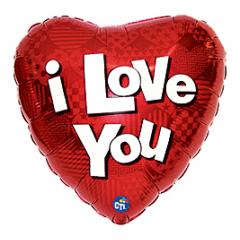 I Love You Bold Mylar