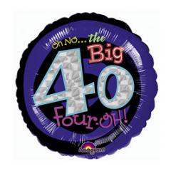 Oh No The Big 40 Mylar